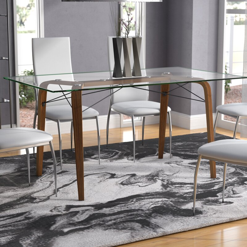 Langley Street Wexford Square MidCentury Modern Dining Table - Mid mod dining table