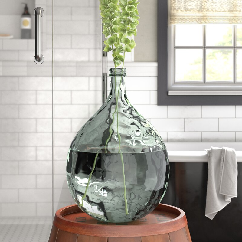 Laurel Foundry Modern Farmhouse Clear Glass Decorative Floor Vase
