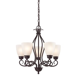 Sophia 5-Light Shaded Chandelier by Alcott Hill