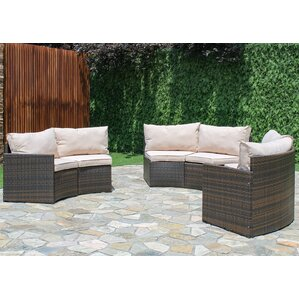 Griswold Curved Sectional with Cushions  sc 1 st  Wayfair : curved patio sectional - Sectionals, Sofas & Couches