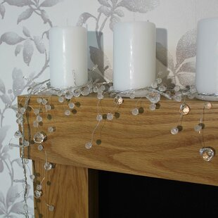 40 White Beaded Christmas Garland LED Fairy Light By The Seasonal Aisle