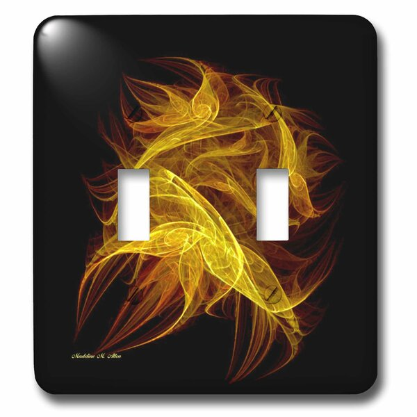 3dRose Flickering Flames Fractal Art 2-Gang Toggle Light ...