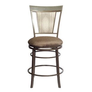 Fiona 24'' Swivel Bar Stool Red Barrel Studio