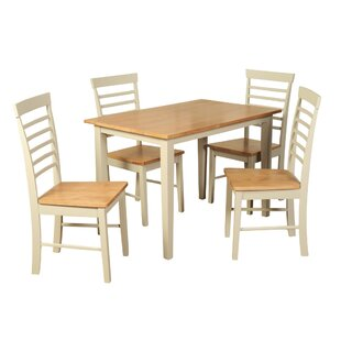 Analia Dining Set With 4 Chairs By Brambly Cottage