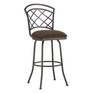 Huebner 34 Swivel Bar Stool Red Barrel Studio