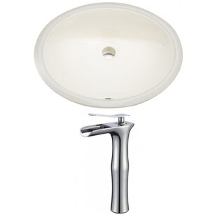 Best Choices CUPC Ceramic Oval Undermount Bathroom Sink with Faucet and Overflow ByAmerican Imaginations