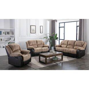 Montevallo 3 Piece Reclining Living Room Set by Lark Manor™