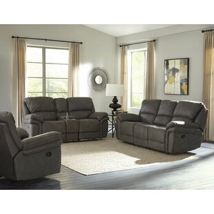 Darby Home Co Creel Reclining Configurable 3 Piece Living Room Set