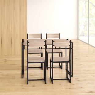 Aarohi Dining Set With 4 Chairs By 17 Stories