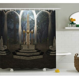 Gothic House Ritual Scenery Single Shower Curtain