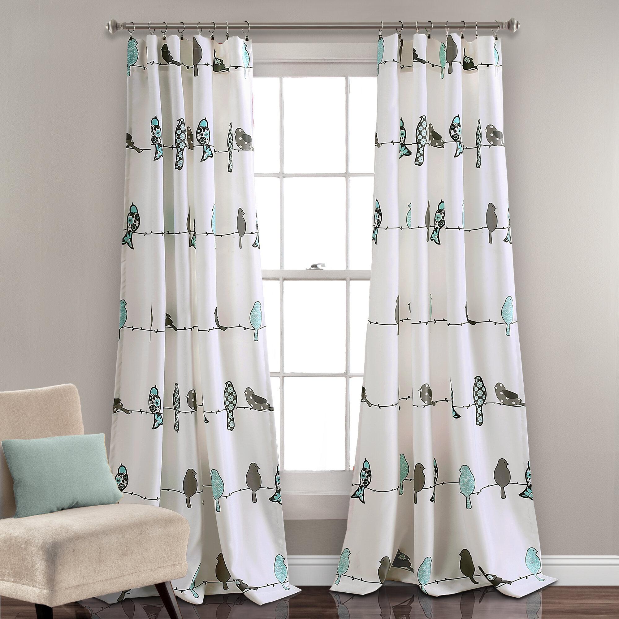 August Grove Recio Animal Print Room Darkening Rod Pocket Curtain Panels Reviews Wayfair