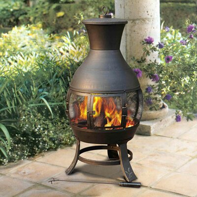 Delightful Clementine Steel Wood Burning Chiminea