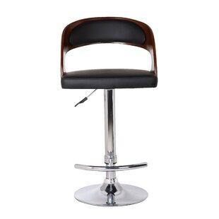 Earnestine Adjustable Height Swivel Bar Stool by Orren Ellis