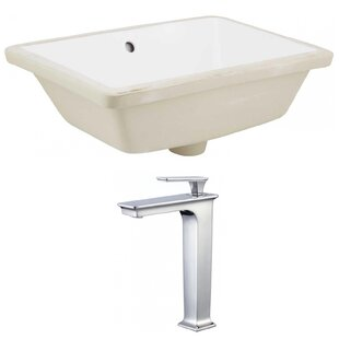 Where buy  Ceramic Rectangular Undermount Bathroom Sink with Faucet and Overflow ByAmerican Imaginations