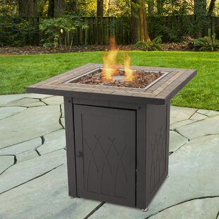 Pleasant Hearth Atlantis Steel Propane Gas Fire Pit Table