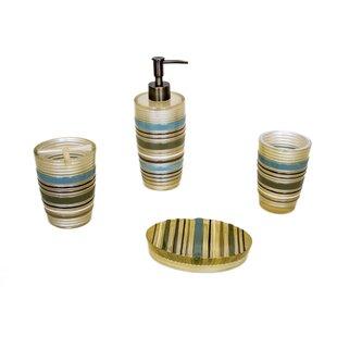 Sherry Kline Elegy Stripe 4-Piece Bathroom Accessory Set