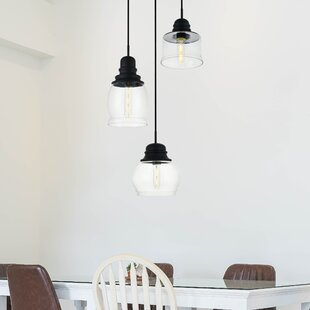 Zayn 3-Light Cluster Pendant by Gracie Oaks