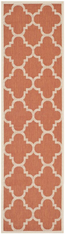 Octavius Natural Terracotta Outdoor Area Rug