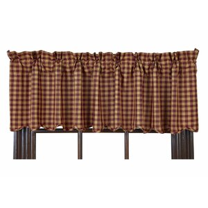 Addie Burgundy Scalloped Curtain Valance
