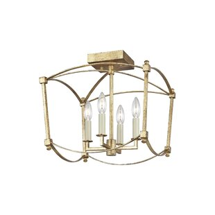 Macon 4-Light Semi Flush M..