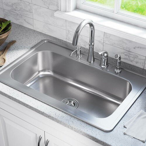 Mrdirect Stainless Steel 33 X 22 Drop In Kitchen Sink Reviews
