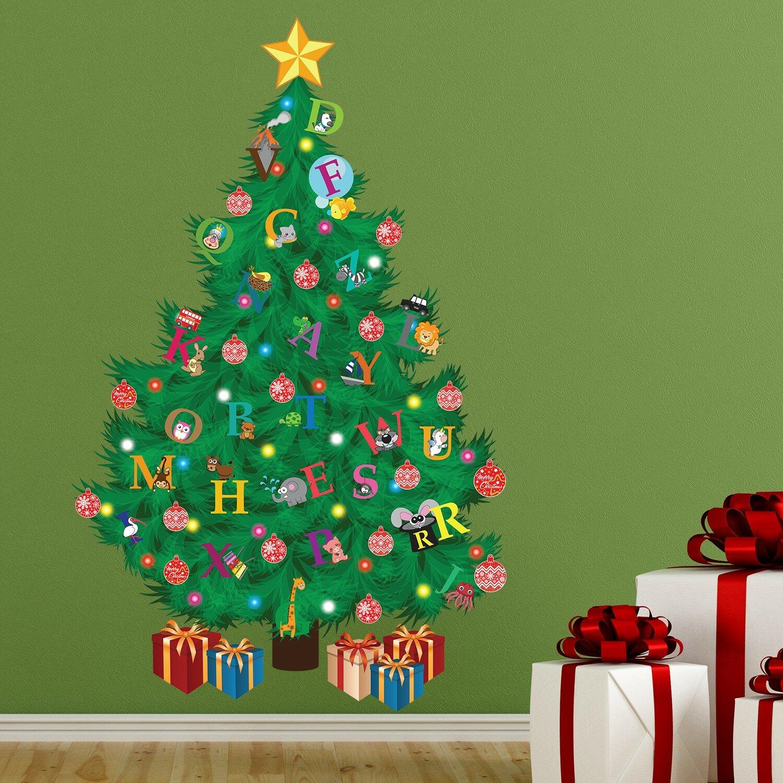 The Holiday Aisle Traditional Kids Alphabet Christmas Tree Wall