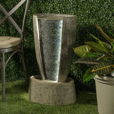 Image of Resin Quietude Fountain with Light Alfresco Home