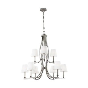 House of Hampton Havilland 9-Light Shaded Chandelier