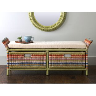 Compare Saragosa Wicker Storage Bench By Bay Isle Home