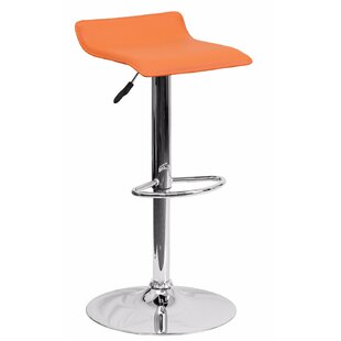 Joshua Adjustable Height Swivel Bar Stool by Orren Ellis