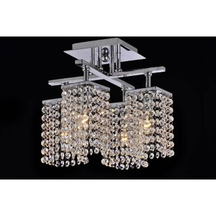 Mclendon 4-Light Semi Flush Mount by House of Hampton