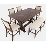 Palou 6 Piece Counter Height Solid Wood Dining Set by One Allium Way®