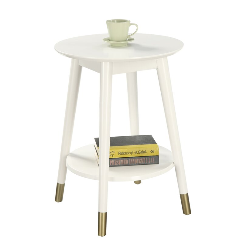 Turn on the Brights  Makenna End Table Color: White