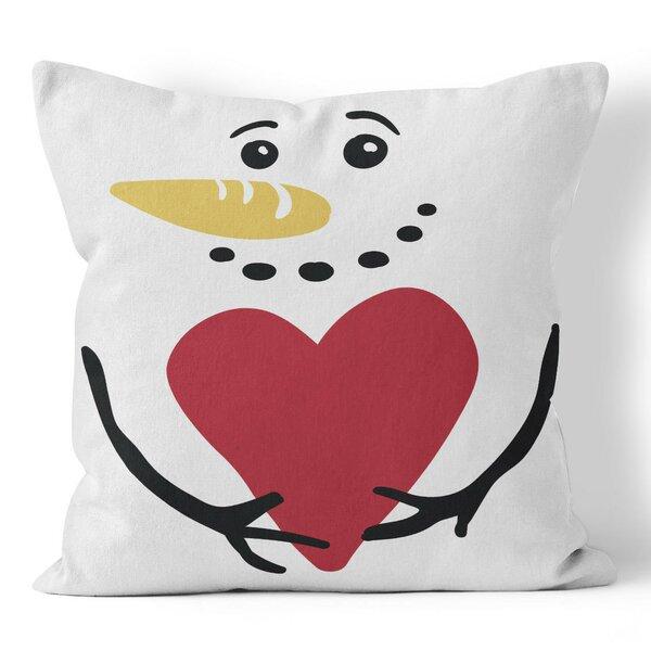 Ziya Blue Snowman Throw Pillow Wayfair