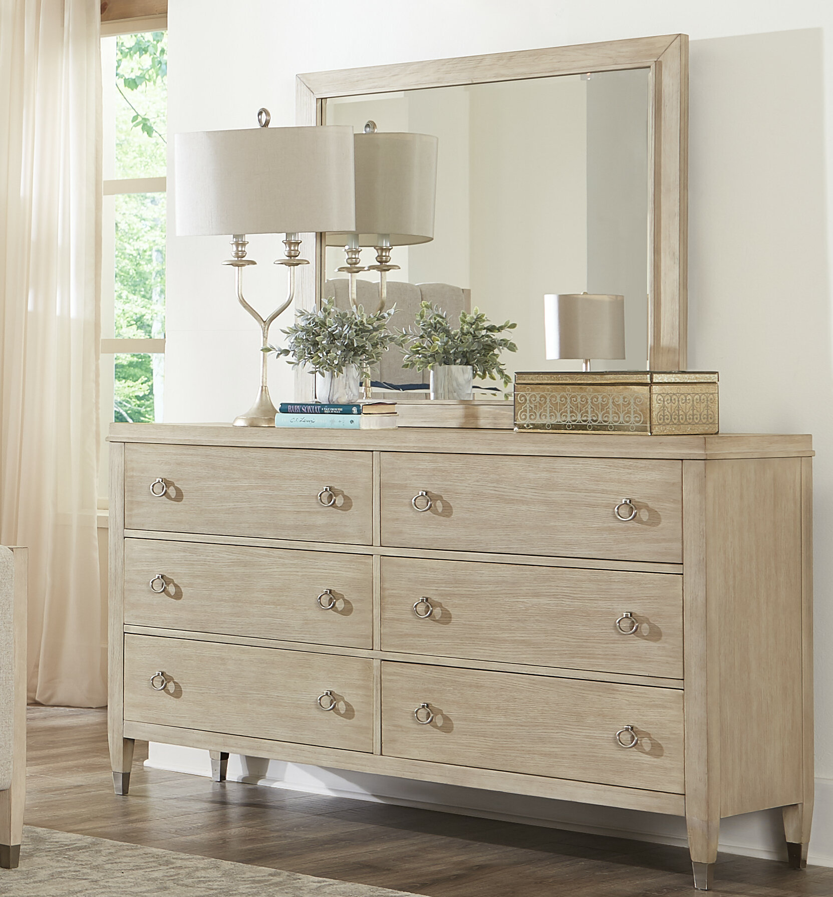 Sausalito 6 Drawer Dresser With Mirror