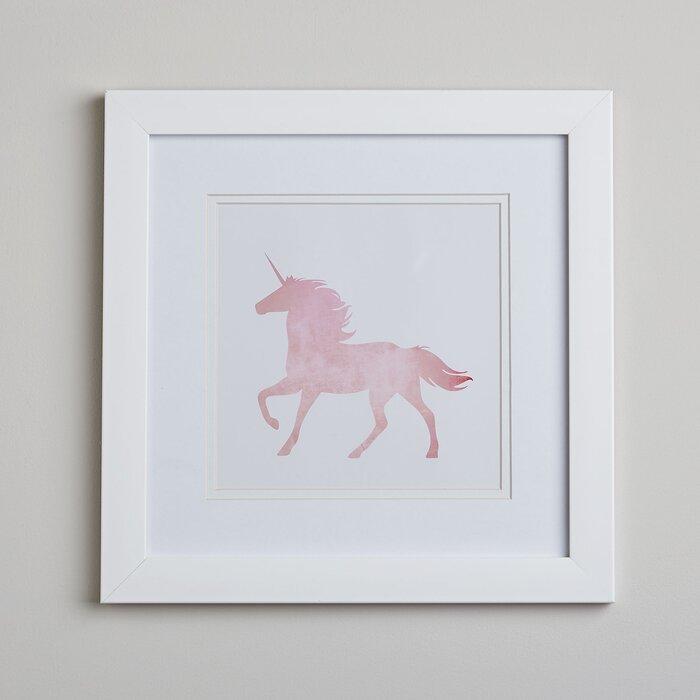Silsden Unicorn Silhouette Framed art