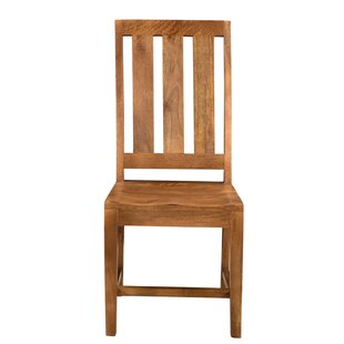 Paola Live Edge Solid Wood Dining Chair (Set of 2) Union Rustic