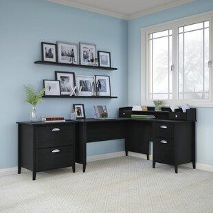 Kathy Ireland Office by Bush Connecticut 2 Piece L-Shape Desk Office Suite