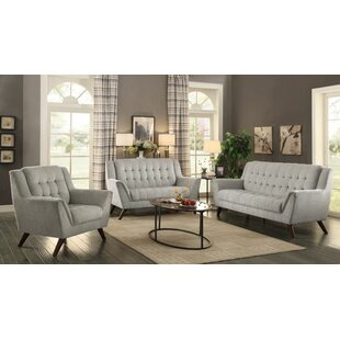 Brayden Studio Frances 3 Piece Living Roo..