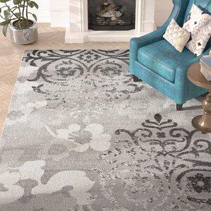 beth silverivory area rug