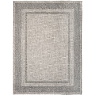 Rockbridge Beige/Black Indoor/Outdoor Area Rug
