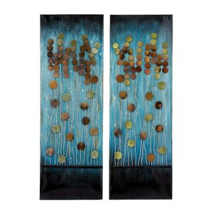2 Piece Metal Plaque Wall Du00e9cor Set (Set of 2)