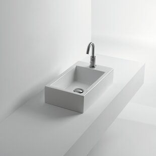 Read Reviews Whitestone Hox Ceramic Rectangular Vessel Bathroom Sink By WS Bath Collections