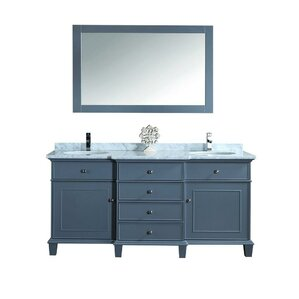 double bathroom vanity. Alyn 72  Double Bathroom Vanity Mirror Set Vanities Joss Main