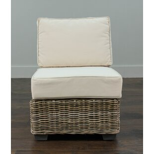 North Bay Driftwood Rattan Center Chair with Cushion