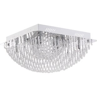 Rosdorf Park Cilla 10-Light Flush Mount