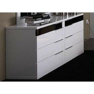 Depuy Rectangular Wooden 8 Drawer Double Dresser by Orren Ellis