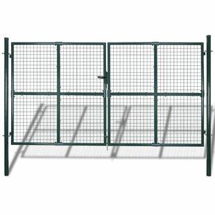 Hornersville 10' X 7' (3.06m X 2m) Metal Gate By Sol 72 Outdoor