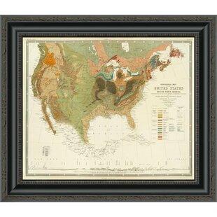 Us Map Artwork.United States Map Wall Art Wayfair