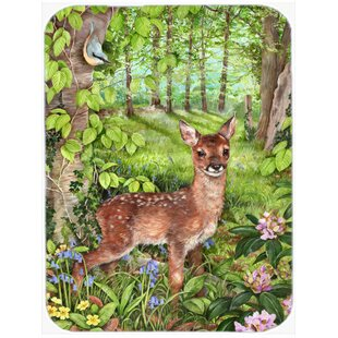 European Roe Deer Glass Cutting Board